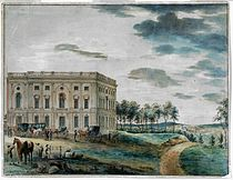 Latrobe's Capitol when first occupied by Congress, 1800