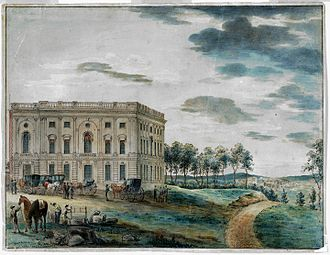 William Thornton - The U.S. Capitol when first occupied by Congress, 1800