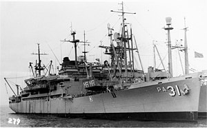 USS Monrovia (APA-31) in the 1960s