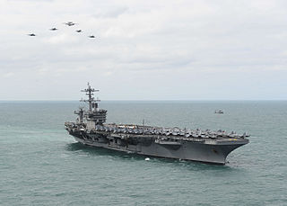 USS <i>Theodore Roosevelt</i> (CVN-71) Nimitz-class aircraft carrier in the United States Navy