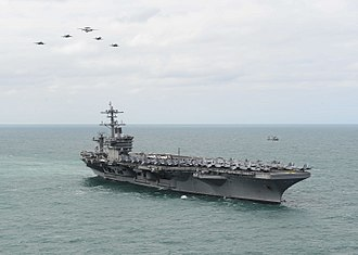 USS Theodore Roosevelt (CVN-71) - Image: USS Theodore Roosevelt operations 150322 N ZF573 140