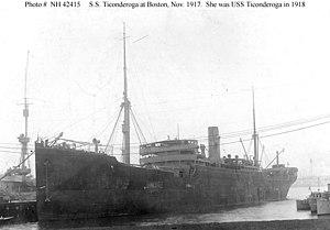 SM U-152 - Image: USS Ticonderoga 1918