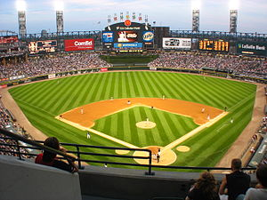 Baseball park wikipedia guaranteed rate field with its iconic exploding scoreboard in center field malvernweather Image collections