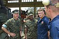 US Navy 030416-M-9902V-041 Gen. Michael W. Hagee, Commandant of the Marine Corps, and Sgt. Maj. Alford McMichael, Sgt. Maj. of the Marine Corps, visit the 9th Engineer Support Battalion.jpg
