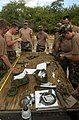 US Navy 040708-N-6811L-080 Navy Divers assigned to Mobile Diving Salvage Unit One (MSDU-1) prepare the materials for demolition training in support of exercise Rim of the Pacific (RIMPAC) 2004.jpg