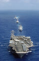 US Navy 060618-N-5961C-003 Nimitz-class aircraft carrier USS Abraham Lincoln (CVN 72) transits the Philippine Sea to begin Exercise Valiant Shield 2006.jpg