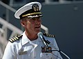 US Navy 060829-N-1332Y-142 The Commanding Officer of the guided missile cruiser USS Chancellorsville (CG 62), Capt. King Dietrich, addresses U.S. Navy and Japan Maritime Self-Defense Force officials.jpg