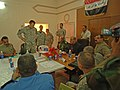 US Navy 060920-N-4097B-003 Iraqi provincial leaders meet with U.S. Army Col. Brian Jones, the commander of 3rd Heavy Brigade Combat Team, and Ra 'ad Rasheed Hameed, the governor of Diyala.jpg