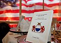 US Navy 070127-N-3019M-001 A program is set on the table before the beginning of the 212th Supply Corps Ball at Fleet Activities Sasebo.jpg