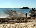 US Navy 070702-M-9449T-034 U.S. Marine Corps amphibious assault vehicles roll out to board amphibious assault ship USS Essex (LHD 2) off the coast of Shoalwater Bay Training Area during exercise Talisman Saber 2007.jpg