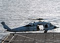 US Navy 070823-N-6710M-005 An MH-60S Seahawk prepares to land on the flight deck aboard USS Tortuga (LSD 46) while conducting flight operations in preparations for the ship's fall patrol.jpg