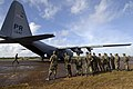 US Navy 070908-N-1810F-010 Nicaraguan army soldiers prepare to unload supplies from a U.S. Navy C-130T aircraft during Hurricane Felix disaster relief operations.jpg