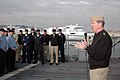 US Navy 080109-N-1655H-005 Adm. Mark Fitzgerald, Commander, Naval Forces Europe addresses the crew during an all hands call aboard the guided missile cruiser USS San Jacinto (CG 56).jpg