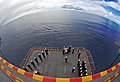 US Navy 080803-N-4774B-024 Sailors aboard the amphibious assault ship USS Tarawa (LHA 1) perform a burial at sea.jpg