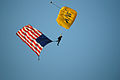 US Navy 080811-N-2539L-057 Special Warfare Operator 1st Class Nix White parachutes onto U.S. Cellular Field before a MLB game between the Chicago White Sox and the Boston Red Sox.jpg