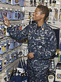 US Navy 081107-N-9999X-003 A Chief Petty Officer wears the Navy working uniform (NWU) while shopping at the Naval Air Station Oceana Navy Exchange.jpg