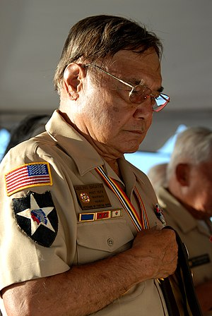 Filipino American World War II veteran in Hawaii