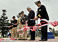 US Navy 090323-N-7446H-003 Leaders from Naval Air Facility Atsugi, Japan Maritime Self-Defense Force and the Nabco Company cut the ribbon for the grand opening of a new base park.jpg