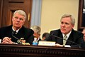 US Navy 090603-N-8273J-069 Chief of Naval Operations (CNO) Adm. Gary Roughead, left, and Secretary of the Navy (SECNAV) The Honorable Ray Mabus deliver testimony and answers questions from members of the House Appropriations Co.jpg
