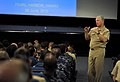 US Navy 100608-N-8273J-136 Chief of Naval Operations (CNO) Adm. Gary Roughead speaks to and answers question from Sailors during an all-hands call Joint Base Pearl Harbor-Hickam.jpg