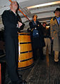 US Navy 101214-N-7642M-145 Boatswain's Mate 2nd Class Philip Gagnon gives a tour of USS Constitution to U.S. Senator John Kerry.jpg