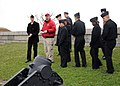 US Navy 110420-N-5647H-239 Sailors assigned to USS Constitution receive a private tour of Fort Independence by Sean McQuade, Castle Island supervis.jpg