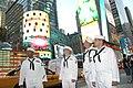 US Navy 110525-N-XY282-080 Sailors visit Times Square during Fleet Week New York 2011. Fleet Week has been New York City's celebration of the sea s.jpg