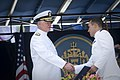 US Navy 110527-N-ZB612-144 Chief of Naval Operations (CNO) Adm. Gary Roughead congratulates ensigns and 2nd lieutenants during the Naval Academy Cl.jpg