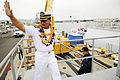 US Navy 110727-N-WP746-525 Members of the Hawaii Filipino community welcome Philippine navy Capt. Alberto Cruz, commanding officer of the Philippin.jpg