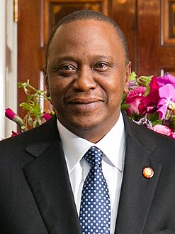 Kenyatta attending a U.S.-Africa Leaders Summit dinner at the White House