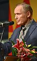Uladzimir Njakljajeu tar emot Tucholsky-priset 25 feb 2014.jpg