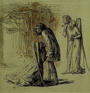 "Ulalume - ""Ulalume"" as illustrated by Dante Gabriel Rossetti, circa 1847–1848."