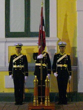 Royal Thai Naval Academy - Regimental colour guard of Royal Thai naval cadets