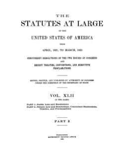 United States Statutes at Large Volume 42 Part 2.djvu
