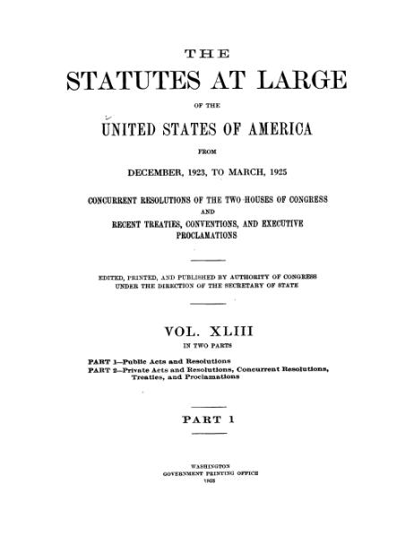 File:United States Statutes at Large Volume 43 Part 1.djvu
