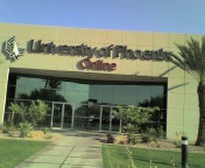 For-Profit Online University - Gaby Dunn of The Daily Dot compared the fictional college to the University of Phoenix (Online campus pictured).