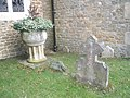 Unusual plant pot in Churt Churchyard - geograph.org.uk - 1708045.jpg