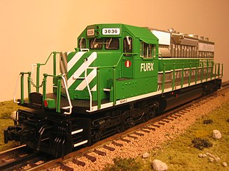 O scale - Typical US O-Scale locomotive