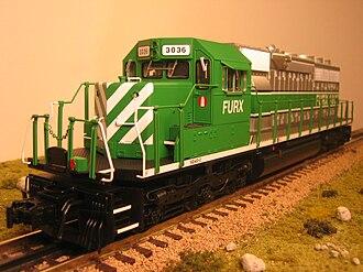 O scale - Typical US O-Scale locomotive