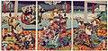 Utagawa Kunisada II - Amusements of the Big Spenders - Flowers of the Night, a Collection of Beauties - Courtesans of the Naka-Manjiya - Renzan, Akashi, and Shizunoo.jpg