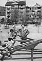 Vérmező, háttérben az Attila út 85. és 87. sz. épületek. Fortepan 19758.jpg