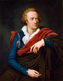 Vittorio Alfieri painted by David's pupil François-Xavier Fabre, in Florence 1793.