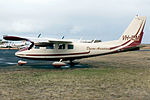 VH-ILM Partenavia P-68C Dyson Aviation (8546309764).jpg
