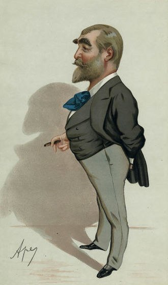 Cox and Box - Drawing of F. C. Burnand from Vanity Fair
