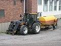 Valmet tractor with a tank trailer in Jyväskylä.JPG
