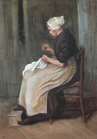 Peasant Character Studies (Van Gogh series) - Image: Van Gogh 1881 12, Etten Scheveningen Woman Sewing F 869 JH 83