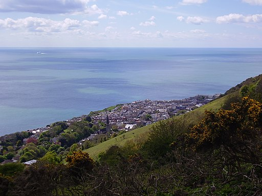 Ventnor from St Boniface Down, IW, UK