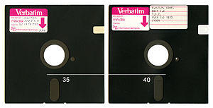 "Mitsubishi Kagaku Media - A pair of 5.25"" floppy disks from 1978."