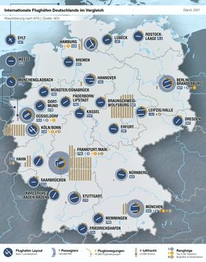 Flughäfen Deutschland Karte.Liste Der Verkehrsflughäfen In Deutschland Wikipedia