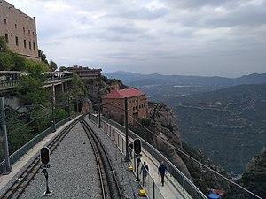 Via del cremallera de Montserrat, Montserrat, Catalunya.jpg
